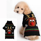 Pet Dog Christmas Sweater Elk Jacket Clothes Winter Hoodie Cat Coat  Apparel new