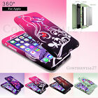 Hybrid 360 Shockproof Case Tempered Glass Cover Apple iPhone 5s SE 6s Plus