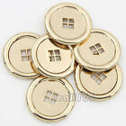 12PCS New Metal Coat/Blazer/Jacket Sewing Buttons Gold Round Buttons 4 Holes