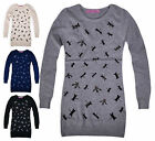 Girls Long Sleeved Butterfly Jumper Dress New Kids Cotton Rich Tunic 3-12 Years