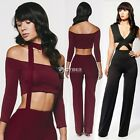 Women Sexy Club Bandage Bodycon Tights Jumpsuits Playsuits Trousers Pants DZ88