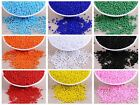 5000 Glass Opaque Seed Beads 2mm (10/0) + Storage Box Pick Your Colour