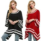 Women Ladies Flare Sleeve Loose Irregular Tops Blouse Shirt T-shirt New DZ88