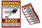 """Warning Security 13x19"""" Sign & 6 Video Surveillance Sticker 3x4"""" Home Business"""