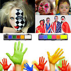 Halloween Party Face Body Paint Water-based Fancy Dress Up Bühne Make Up Palette