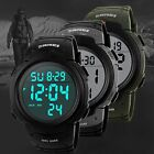 Mens Military Digital Sport Watch Fashion Electronic LED Display Water Resistant