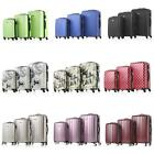 3Pcs Luggage Set Trolley Suitcase ABS +PC Hard Shell Lock Wh