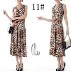 AU SELLER 50'S Vintage Sexy Animal V-Neck Sleeveless Dress dr141-11