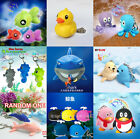 1pc Ocean Sea Animal Fish LED Light Lamp Torch Keyring Key Chain Kids Gift Toy