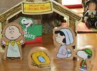 PEANUTS PAGENT CHARLIE BROWN SNOOPY LINUS LUCY 5 PIECE WOODEN CHRISTMAS PLAY SET