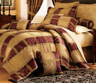 7 Piece Burgundy Jewel Patchwork Comforter Set image