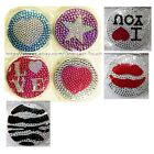 COMPACT MIRROR Dual Sided MAGNIFIED+STANDARD Rhinestone+Bling Jewel *YOU CHOOSE*