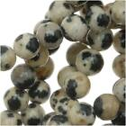 Spotted Dalmation Jasper 4-4.5mm Round Beads 15.5 Inches