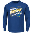 Men's Golden State Warriors Majestic The City Wide L/S T-Shirt