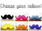 CHOOSE YOUR COLOUR MOUSTACHE CUSHION PILLOW DECORATION NOVELTY FUN GIFT BEARD