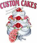 Custom Cakes DECAL (Choose Your Size) Wedding Food Truck Restaurant Concession