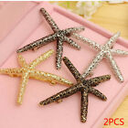 2pcs/set Fashion Hair Clip for Women Girl Hairclip Starfish Wedding Party Prom