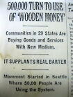 1933 NY Times NUMISMATICS Long report of DEPRESSION SCRIP money GREAT DEPRESSION