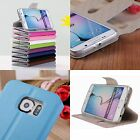 NEW DESIGN FOR SAMSUNG GALAXY S6 GENUINE REAL LEATHER FLIP CASE WALLET COVER