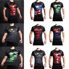 Superhero Marvel The Avengers 3D Compression T-shirt Civil War Cycling Clothing