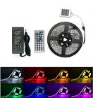 16½ft 5m RGB 5050 Waterproof LED Strip light SMD 44 Key Remote 12V US Power Kit