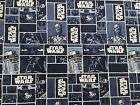 STAR WARS blocks on blue : 100% LICENSED cotton  : by the 1/2 metre