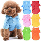 Pet Dog Cat Plain T Shirt Puppy Tees Clothes Apparel XS S M L XL Polo T-Shirt