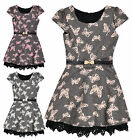 Girls Short Sleeved Butterfly Lace Dress New Kids Party Dresses Ages 3-12 Years