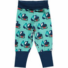BNWT Maxomorra Baby Boys Excavator Baby Trousers NEW Organic Tractor Joggers