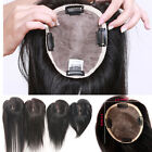 "4.5×5.5"" Mono Lace Remy Human Hair Topper Toupee Hairpiece Top Wig For Women Man"