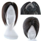 12'' Women Lace Hair Top Piece Closures Toupees Clip in Human Hair extensions