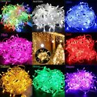New 10M 100 LED Christmas Tree Fairy String Party Lights Lamp Xmas Waterproof