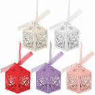 20/25/50/100 Love Heart Laser Cut Ribbon Candy Gift Boxes Wedding Party Favor
