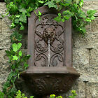 """25"""" Decorative Lion Outdoor Wall Water Fountain"""
