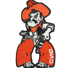 NCAA Oklahoma State Cowboys Pistol Pete Mascot Logo Iron On Embroidered Patch