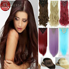 US Long NEW Clip in Full Head Clip in Hair Extensions human love Hair Piece S79