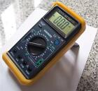 AC DC Digital Ammeter DMM Capacitor Tester+K Thermocouple+Test Leads HVAC Tool