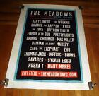 THE MEADOWS CITIFIELD NY 2016 CONCERT 5FT SUBWAY POSTER KANYE WEST THE WEEKEND