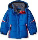 London Fog Boys Blue White Red Puffer Jacket Size 4 5/6 7
