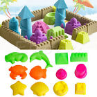 Fantastic 6pcs Castle Sand Toys Pyramid Sandcastle Beach Outdoors New