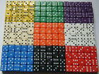 12 Dice Choose your Colours 18mm Spot Dice Games RPG NEW