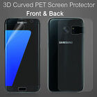 Thin Film 360 Full Curved PET Screen Protector For Samsung Galaxy S8 S7 Edge