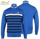 Island Green Lined Breathble Windproof 1/4 Zip Golf Jumper M,L,XL,XXL Royal Blue