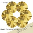 GENUINE Swarovski Metallic Sunshine (METSH) (Hotfix / NO Hotfix) Gold Rhinestone