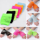 Sexy Disco Dance Costume Party Lace Fishnet Fingerless Mesh Party Palm Gloves