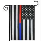"""12*18"""" USA Thin Blue Line American Police Flag Embroidered Stars Sewn Stripes"""