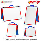 Wedge Whiteboard A2 or A3 Dry-Wipe, Magnetic, double-Sided, Portable White Board