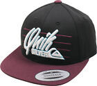 Quiksilver Youth Champagne Snapback Baseball Hat Black/Burgundy