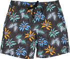 Rusty Tropical Plant  Volly/Swim Shorts Black