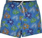 Rusty Tropical Plant  Volly/Swim Shorts Bright Blue